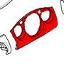 5 Piece Dash: Center: Anthracite