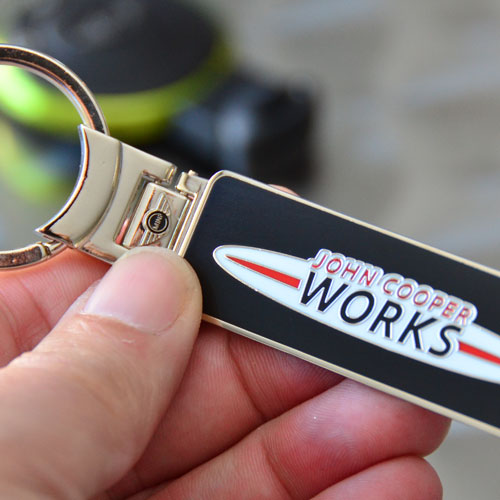 JCW Metal Tab Keychain