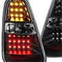 LED Rear Tail Lights: Black: Gen1