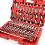 1/2 Inch Drive 6-Point Socket Set: 84-Piece Metric + SAE