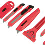 Snap-Off Knife + Scraper Set: 8-piece