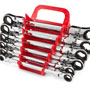 Flex Ratcheting Box End Wrench Set: 6-Piece: 8-19 mm