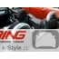 Chrome Roll Bar Covers: R52