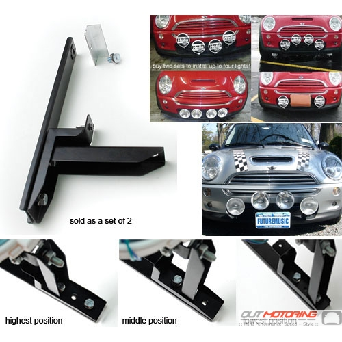 Out Motoring Lower Driving Light Brackets: R50/2/3