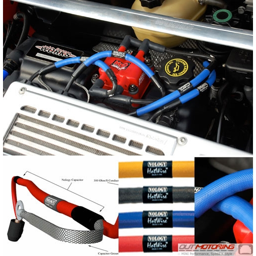 MINI Cooper Nology Hot Wires Spark Plug Leads - MINI Cooper ... on magnum plug wires, spark plug wires, ngk plug wires,