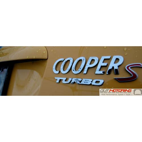 Turbo Badge: Chrome: Caps