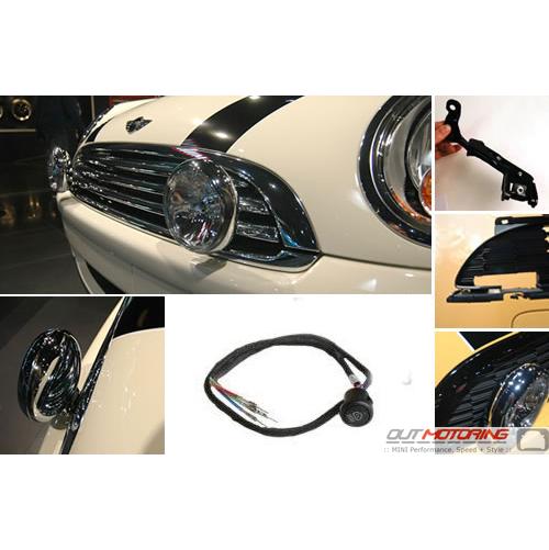 MINI Cooper Driving Light Kit With Brackets + Grill: Gen 2