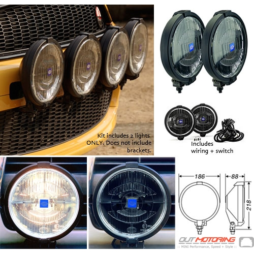 Hella Rallye 1000 Black Magic Driving Light Kit