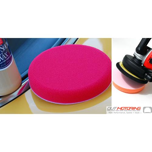 """Griots Foam Wax Pad: Red: 6.5"""""""