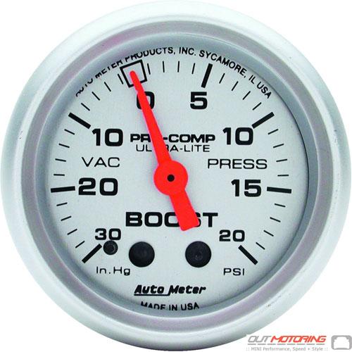 Autometer Boost/Vacuum Gauge: Mechanical