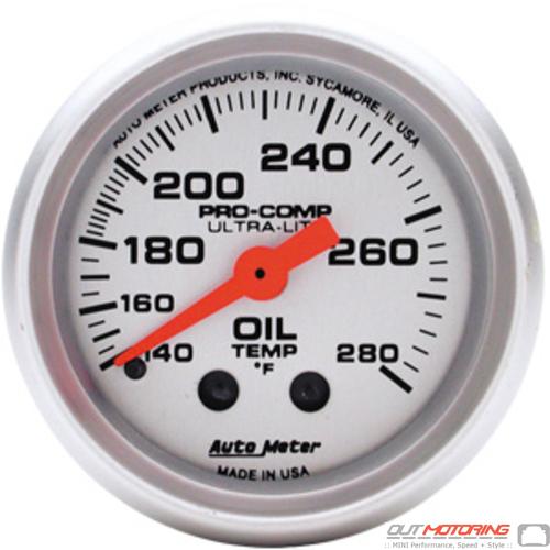 Autometer Oil Temperature Gauge: Mechanical