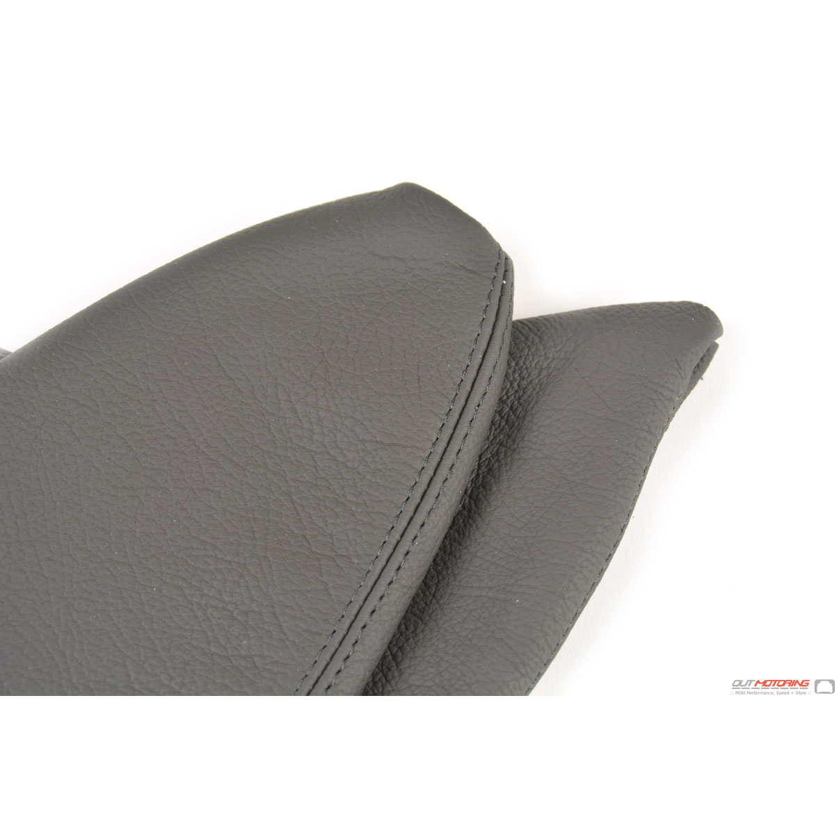 Autoguru Mini Cooper R55 R56 R57 Clubman 07-14 Manual Shift Boot Real Leather Black Gray Stitch