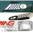 Side Marker Housings: Checkered Flag: R55/6/7/8/9
