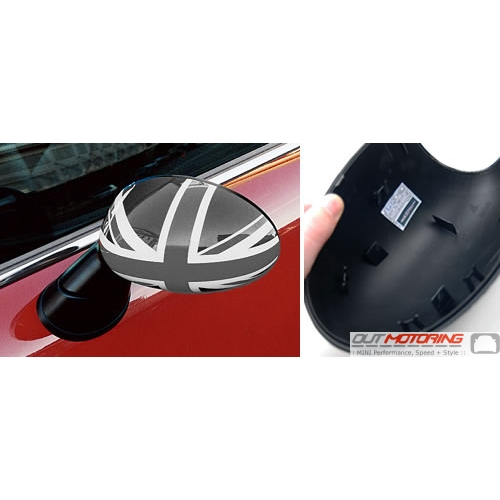 Side Mirror Caps: Gen2: Black Jack