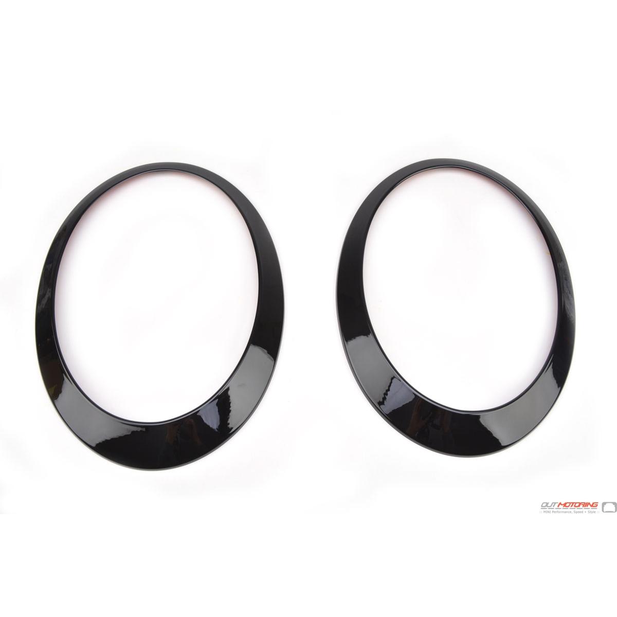 Mini Cooper R53 R52 R50 Blackout Accent Headlight Rings