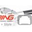 Racing Dynamics Carbon Fiber Front Upper Stress Bar: R50/2/3