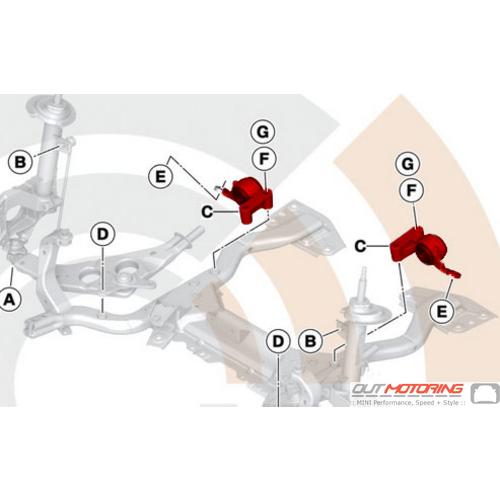 Control Arm Bracket + Bushing: Set
