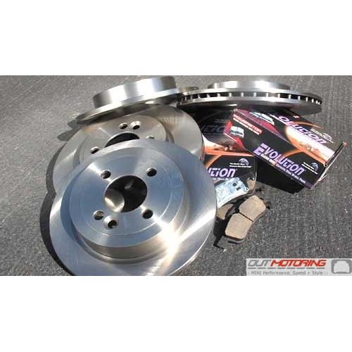 Front /& Rear Brembo Brake Ceramic Pads Kit for Mini Cooper R50 R52 R53