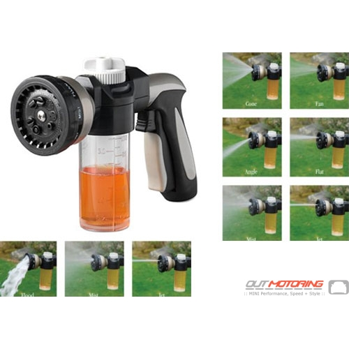 Multi-Pattern Hose Nozzle + Car Wash Dispenser