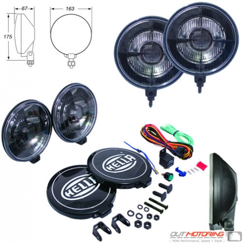 Hella 500 Black Magic Driving Light Kit