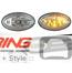LED Side Marker Lights: Union Jack Pattern: Clear: R50/2/3