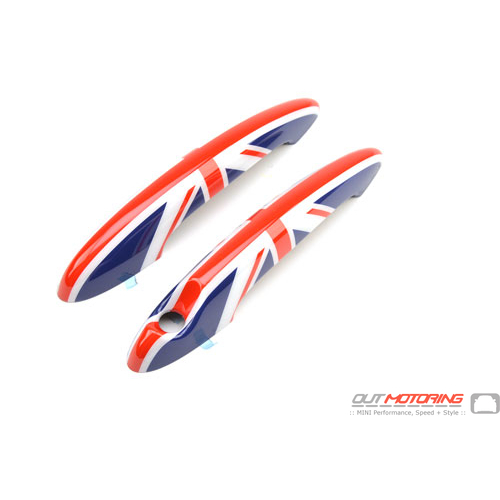 Door Handle Covers: Union Jack: R50/2/3/5/6/7/8/9/61