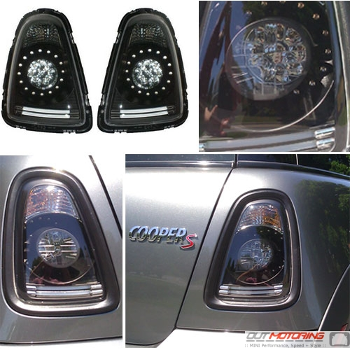 Black Led Tail Lights For Mini Cooper R56 R57 Mini