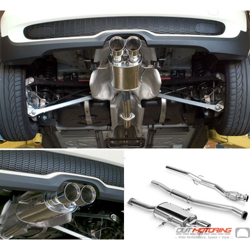 NM Engineering Exhaust: Hatchback R56/8 'S' Downpipe Back