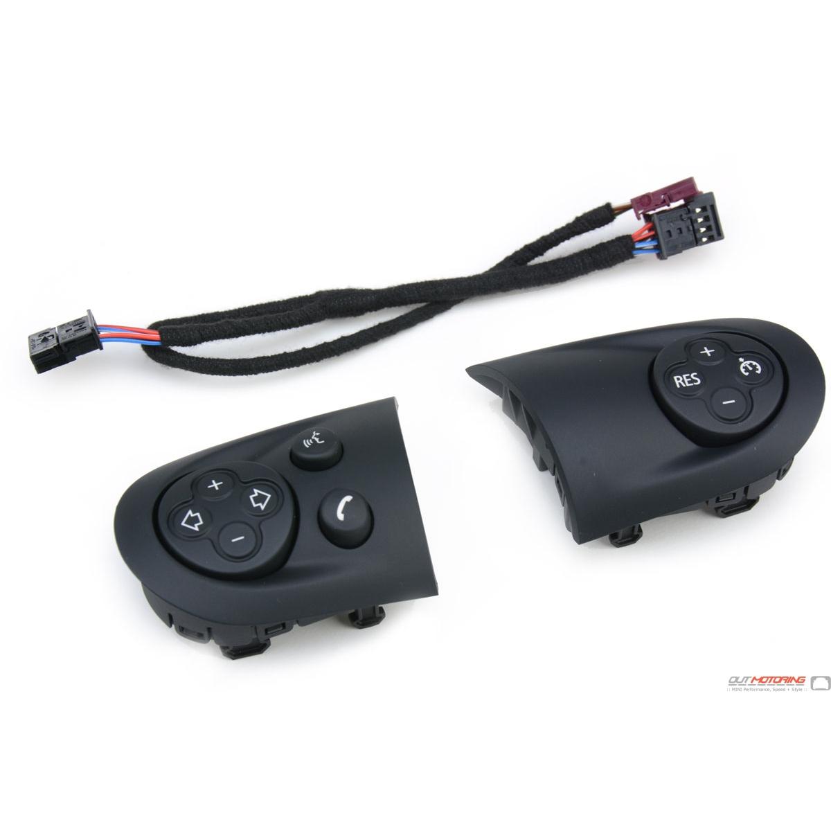 Aston Martin V8 Vantage For Sale >> MINI Cooper Black Steering Wheel multifunction Controls - MINI Cooper Accessories + MINI Cooper ...