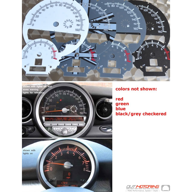 outmotoring custom gauge faces gen2 r55 r56 r57 r58 r59 mini
