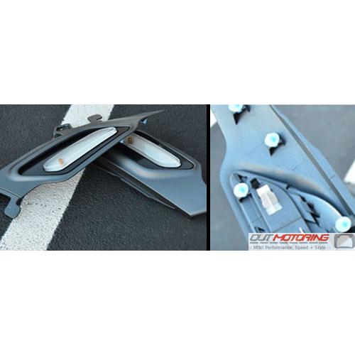 Side Marker Housing Set: R60/1: Charcoal Grey