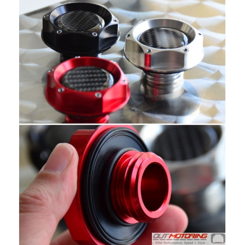 Machined Aluminum Oil Cap: R50/2/3