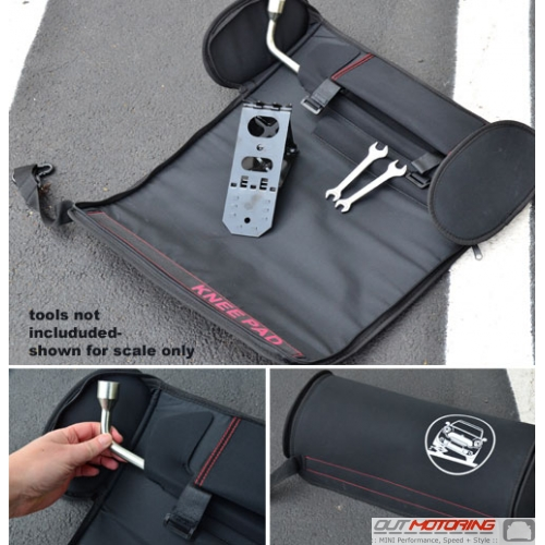 MINI Tool Roll Storage Bag w/ Knee Pad