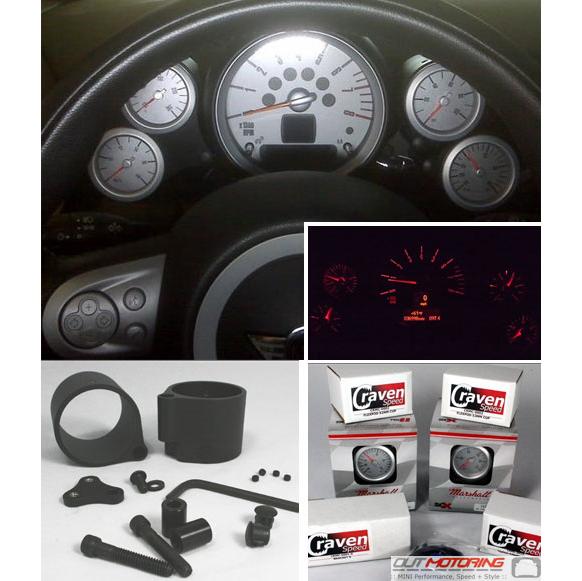 2005 Aston Martin Db9 Interior: MINI Cooper Coupe Speedster Gauge Kit Quad Gauge Kit