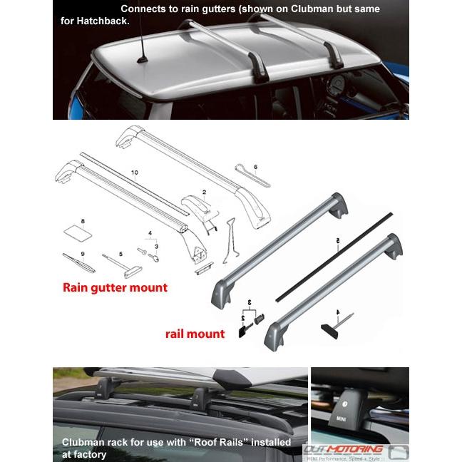 Mini Cooper Bike Roof Rack: MINI Cooper R55 Clubman Bike RAck Roof Rack Rails
