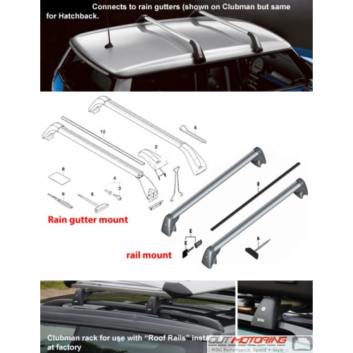 Base Roof Rack: Clubman