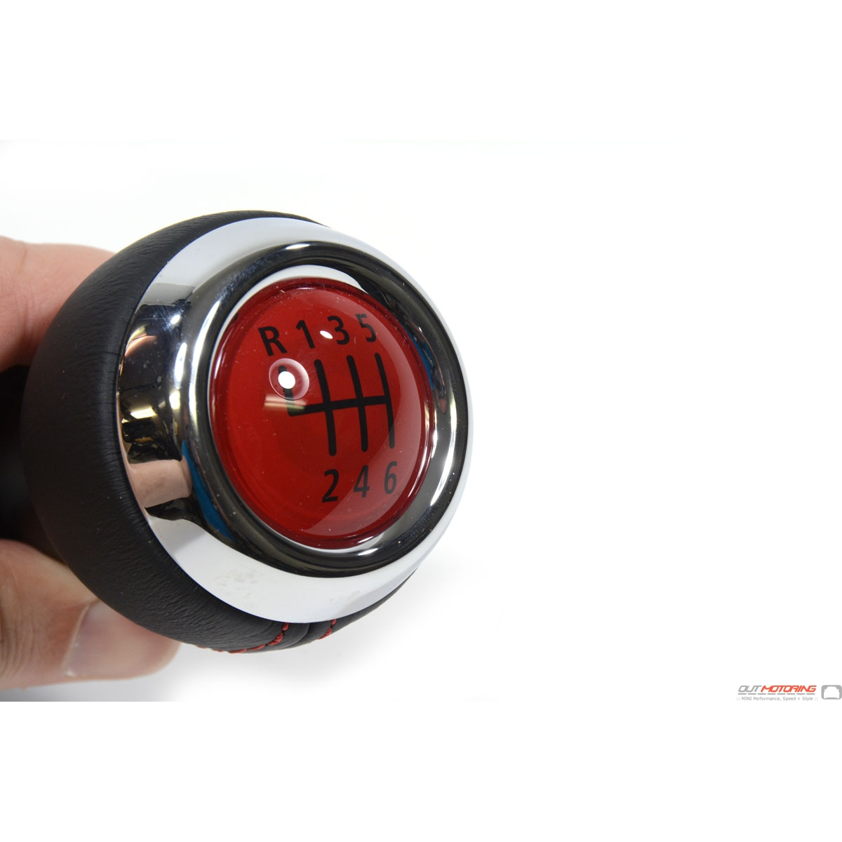 Mini Gp Cooper S Red Shift Knob Pattern With Leather Boot