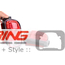 LED Rear Tail Lights: Tron Style Red: R55