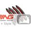 Door Handle Covers: Carbon Fiber: R60: Standard