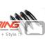 Door Handle Covers: Gloss Black: R60: Standard
