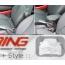 Top Pad: Armrest W/ Sliding Storage: Dark Gray: Faux Leather