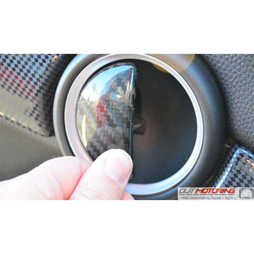 Mini Cooper Interior Carbon Fiber Door Latch Pull Accent