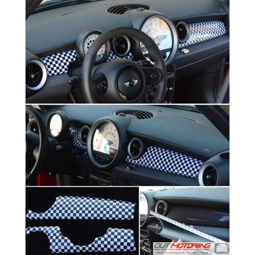 Dash Panel Covers: Gen2: Checkered Flag