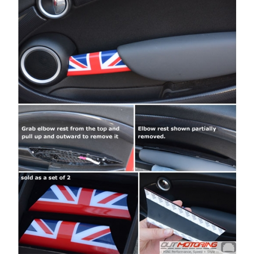 Door Grab Bar Covers: Gen2: Union Jack