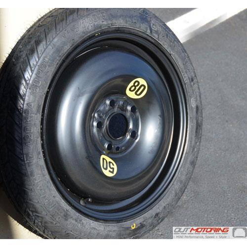 Micro Spare Tire + Wheel: 5 Lug: F55/F56/F57