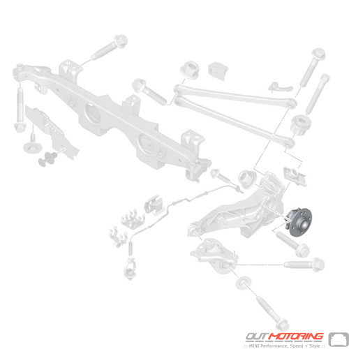 Wheel Bearing/Hub: Rear