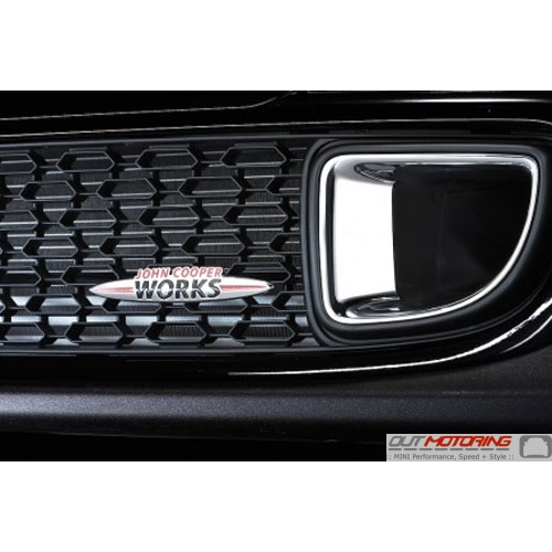 JCW Badge: Bolt On/Grill Mount: Chrome