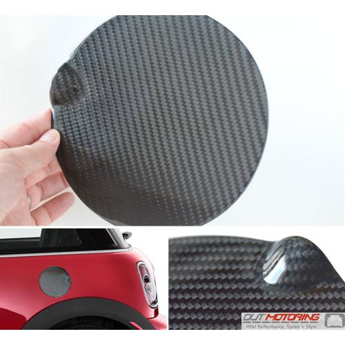 Flat Gas Door Cover Carbon Fiber R55 6