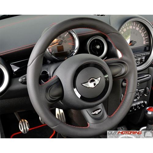 Mini Cooper Gp2 Leather Steering Wheel W Red Stitching 32306858010