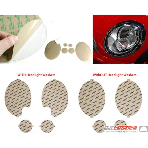 Headlight Protection Film: Clear: R55/6/7/8/9